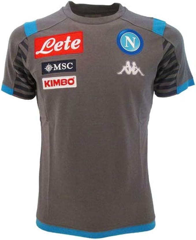 Napoli Kappa Ayba 3 Maglietta da Bambino 304NIL0, Grigio/Blu ...