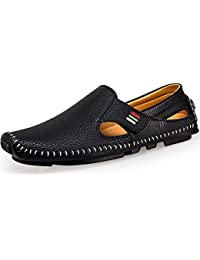 Men's Driving Shoes Penny Loafers Casual Leather Stitched Loafer Shoes