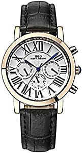 IBSO Leather Casual Watch For Men - Black, S3960GBlack
