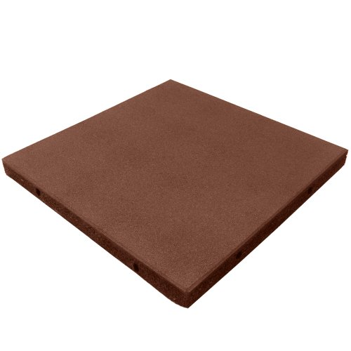 (Rubber-Cal Eco-Safety Interlocking Playground Tiles - 2.50 x 20 x 20 inch - Pack of 4 Playground Tiles, 11 Square Feet Coverage - Terra)
