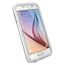 LifeProof FRE Samsung Galaxy S6 Waterproof Case - Retail Packaging - AVALANCHE (WHITE/GREY)