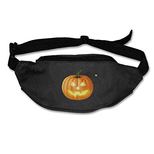 My Century Union Halloween Pumpkin Ghost (2) Zipper Pockets Water Resistant Fanny Pack Running Belt Waist Bags Waist Pack For Running Hiking Cycling Climbing (Target Halloween 2017 Theme)