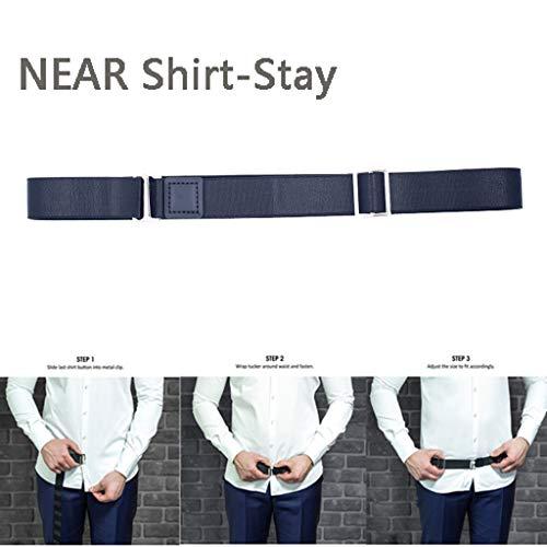 Sothread(TM) Near Shirt-Stay Best Shirt Stays Belt Adjustable Elastic Black Tuck It Belt Shirt Tucked Mens Shirt Stay for Men Women (Update) (Best Of Embarrassing Bodies)