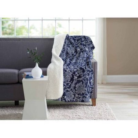Indigo Vines Velvet Plush Throw by Better Homes (Vine Velvet)
