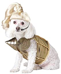 Pup-A-Razzi Pop Queen Dog Costume, Small, Gold