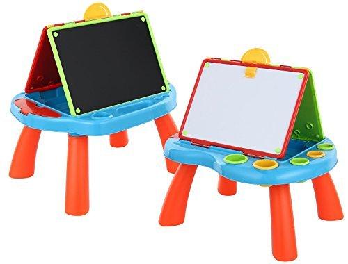 2 In 1 Art Centre Blackboard & Whiteboard Kids Activity Play Desk Drawing...