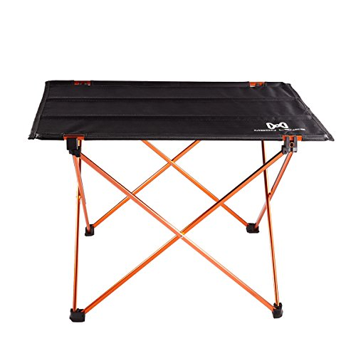 Moon Lence Ultralight Folding Camping Picnic Roll Up Table with Carrying Bag (Folding Picnic Table Camping)