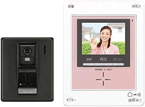Amazon アイホン Roco 録画 カラーテレビドアホン ピンク Ac電源プラグ式 録画機能付 玄関1台 室内1台 Kf 66 P インターホン チャイム
