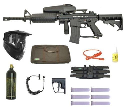 Tippmann A-5 Paintball Marker Gun 3Skull Assault Sniper Set