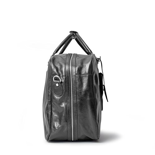 Maxwell Scott Luxury Black Leather Suitcase Bag for Men (The Maurizio) by Maxwell Scott Bags (Image #3)