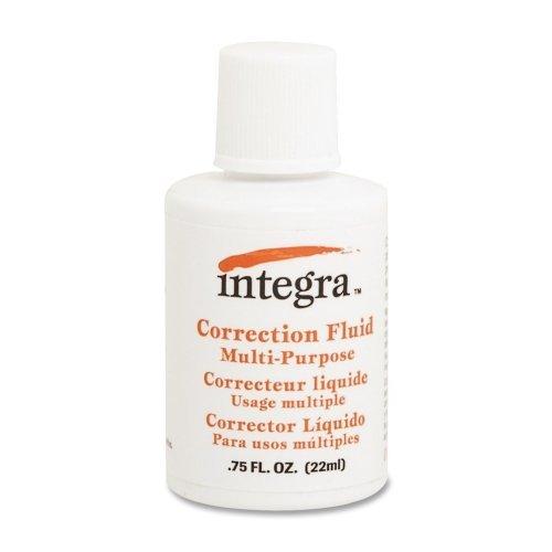 Wholesale CASE of 25 - Integra Multipurpose Correction Fluid-Multipurpose Correction Fluid, 22ml, White by Integra (Image #1)