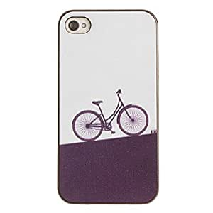 LZX Bicycle Pattern PC Hard Case with Black Frame for iPhone 4/4S