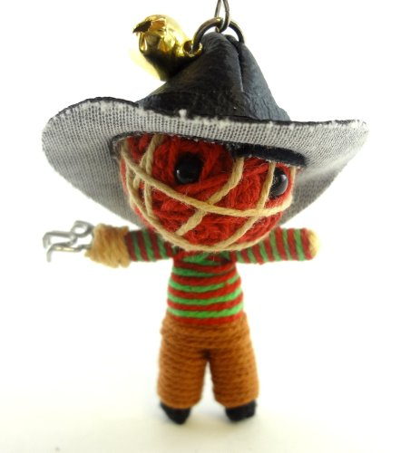 Freddy Krueger Voodoo String Doll Key Chain Handmade Nightmare on Elm Street