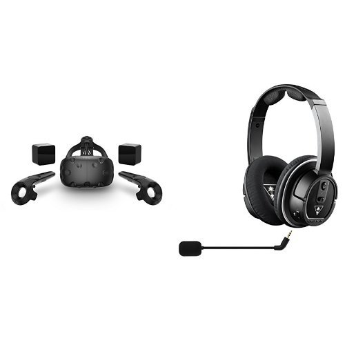 HTC-VIVE-Virtual-Reality-System-Turtle-Beach-Stealth-350VR-Amplified-Virtual-Reality-Gaming-Headset-bundle