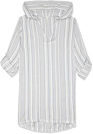 Rip Curl Women's Hayes Beach Shirt, Blue, 12