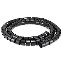 Monoprice Spiral Wrapping Bands - 30mm x 1.5m - Black
