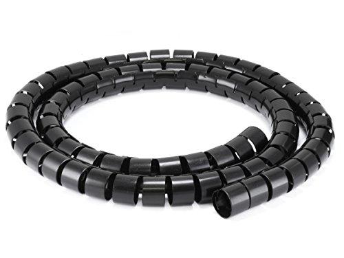 Price comparison product image Monoprice 107028 30mm x 1.5m Spiral Wrap Bands, Black
