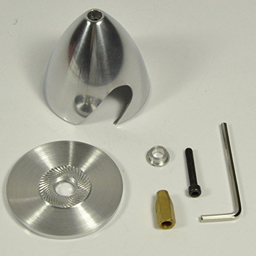 Prop Spinner 2 Blade - Jammas 2 Blade Aluminum Spinner Special Drilled for RC Plane with Prop Adapter 1.5