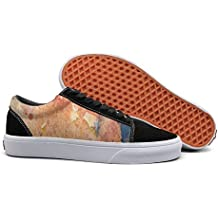 Print trendy ink Chinese style watercolor splash shading Low Top canvas sneakers