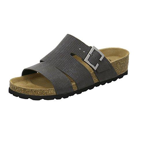 AFS-Schuhe 274920 - Zuecos de Piel para mujer gris