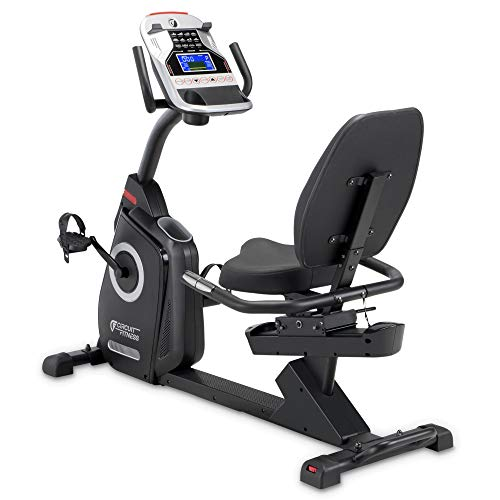 Circuit Fitness Magnetic Recumbent Exercise Bike with 15 Programs, 300-lb Capacity AMZ-587R