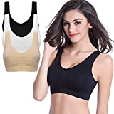 skine Women's Soft Cotton Wireless Lightweight Solid Bra Wire Free Bra