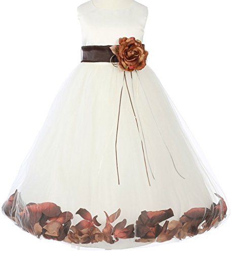 champagne and chocolate wedding dresses - 3