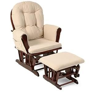 Amazon Com Beige Bowback Nursery Baby Glider Rocker Chair