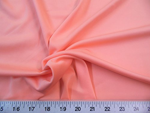 Fabric Techno Scuba Polyester Spandex 4 Way Stretch Peach TS01 ()