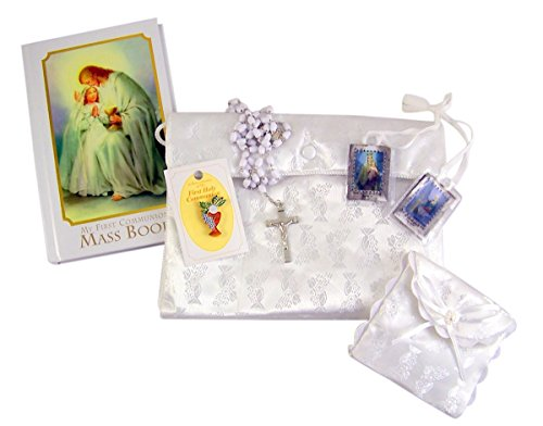 Traditional Memories First Communion Gift Set for Girls with Satin Purse