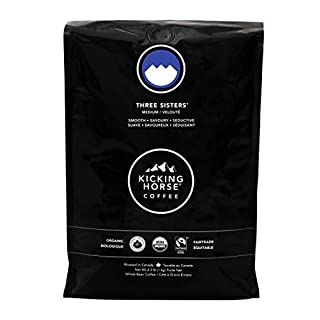 Kicking Horse Coffee, Three Sisters, Medium Roast, Whole Bean, 2.2 Pound - Certified Organic, Fairtrade, Kosher Coffee