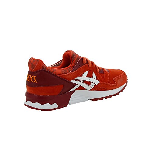 red V Leather Suede Junior Asics Trainers Gs Gel Lyte qAWE86p