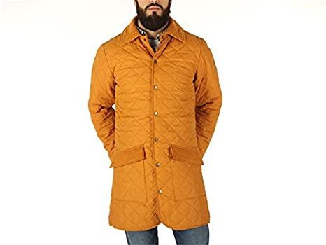 JWG, Hombre, Quilted Overcoat Long, poliéster, Chaqueta, Amarillo: Amazon.es: Deportes y aire libre