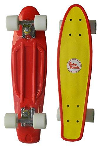 RETRO BOARDS Two Tone Skateboard, Red, 22-Inch