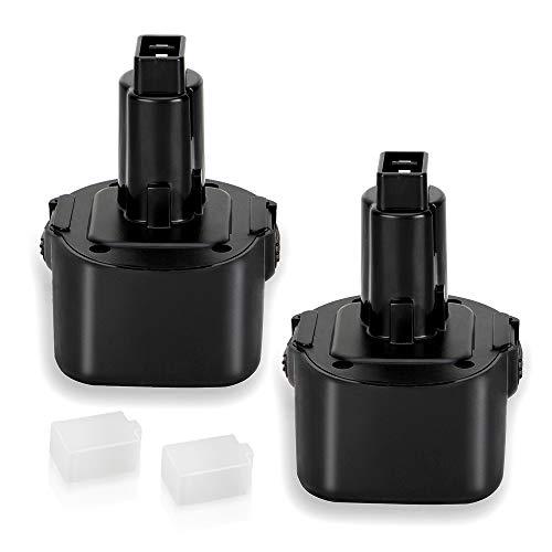 2 Pack 3.6Ah Ni-MH for Dewalt 9.6 Volt Battery DW9062 Dw9061 DW926 DC750KA DW955K DW955 DW926K-2 DW926K DW902 DW050 DE9062 DE9061 DE9036 DW955K-2 DW050K Replacement for Dewalt 9.6v Battery