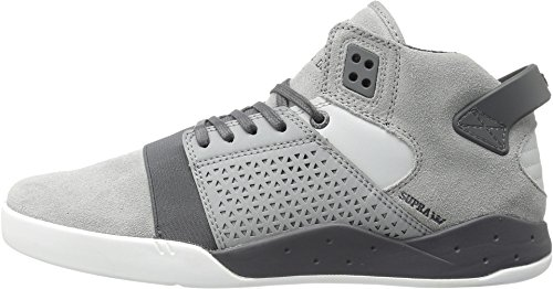 Supra VAIDER Unisex-Kinder Hohe Sneakers Light Grey Suede