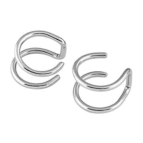 andy cool Premium Quality Men's Women's Clip-on Earrings Non-piercing Ear Cartilage Cuff Eardrop Ear Clip - Silver
