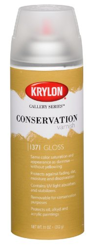 Krylon K01371000 Gallery Series Conservation Varnish Aerosol Spray, Gloss, 11 Ounce (Series Varnish Conservation Gallery)
