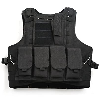 WASING WS-TV-color 800D Tactical Vest Combat Molle Assault Military Army Airsoft Tactical SWAT Vest for Police Holster