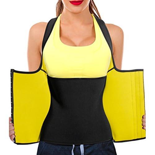 b7873353940a4 Junlan Women Neoprene Waist Trainer Vest Corset Tank Top Sauna Body Shaper  Weight Loss lovely