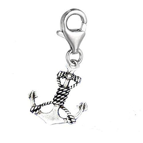 Sexy paillettes Femme à clipser Anchor Charme pendentif pour européenne Clip sur le charme Bijoux W/homard fermoir