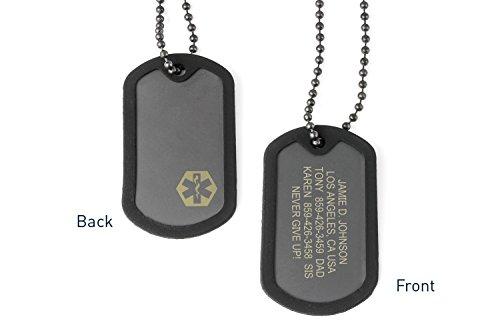 Road ID Custom Dog Tags for Men or Women - the FIXX ID - Medical ID Dog Tag