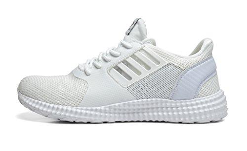 Dream Pairs 5003 Mens Nuovo Leggero Andare Easy Walking Scarpe Da Corsa Casual Atletiche Comode Da Corsa 160821-bianco