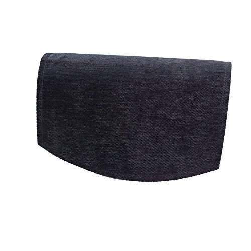 Classic Home Store Chenille Single Chair Back Plain Soft Touch Antimacassar Sofa Furniture Cover (Black)