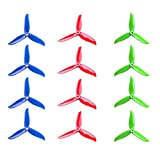 DALPROP T5045C CYCLONE Tri-blade Propeller 5'' CW/CCW 5045 Prop for FPV Racing Quadcopter Frame Kit like iFlight iX5 200mm (Total 12pc=3sets)