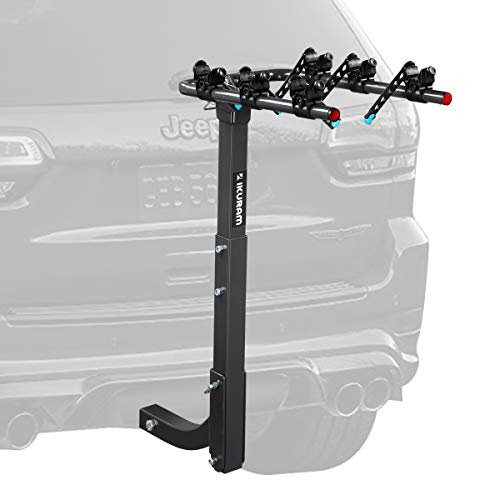 - IKURAM 3 Bike Rack Bicycle Carrier Racks Hitch Mount Double Foldable Rack for Cars, Trucks, SUV's and minivans with a 2