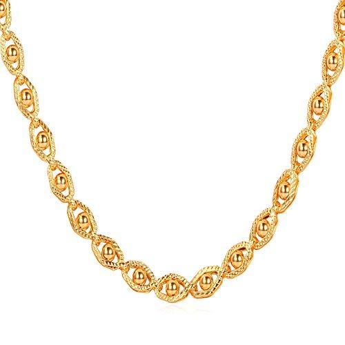 U7 Fashion Unisex Platinum Necklace