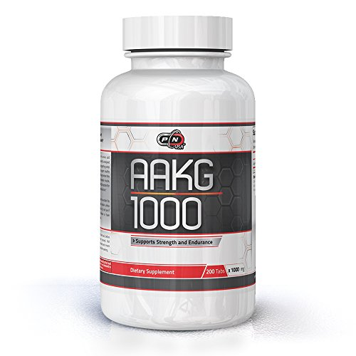 Pure Nutrition USA AAKG Powder Pre Workout L Arginine Conditionally Essential L-Arginine Amino Acid Sports Nutrition Fitness Bodybuilding Weight Lifting Cross Fit Training Supplement (200 Tabs)