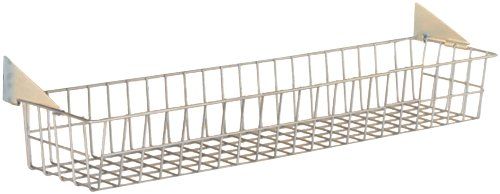 Triton Products 1715 Storability Wire Basket 31-Inch W by 4-Inch H by 6-1/2-Inch D Gray Epoxy Coated Steel with Lock-On Hanging Brackets (Wire Bracket Basket)