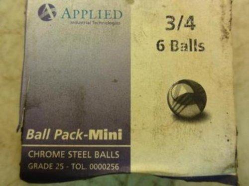Applied Industrial Tech 3/4 6 Balls Lot-6 Chrome Steel Balls